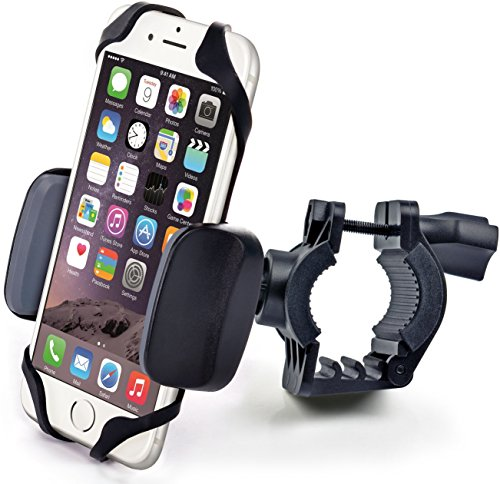 free shipping 0e87f e67e3 Bike & Motorcycle Cell Phone Mount - For iPhone 6 (5, 6s Plus), Samsung  Galaxy Note or any Smartphone & GPS - Universal Mountain & Road Bicycle ...