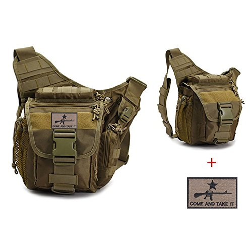 Klau Sport Outdoor Military Women And Men S Multi Functional Tactical Messenger Shoulder Bag With Patch For Hunting Hiking Trekking